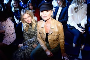 Paris, France Sienna Miller (L) and Kate Moss