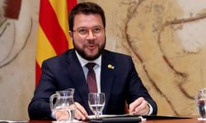The Catalan regional vice-president, Pere Aragonès