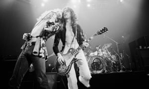 In their time of living … Led Zeppelin on stage in 1975.