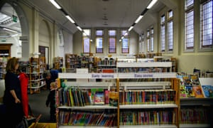 the Torridon public library in Lewisham, London, which is now being staffed by volunteers.