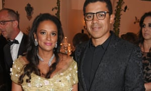 Isabel dos Santos and Sindika Dokolo at the De Grisogono 'Love on the rocks' party in 2017