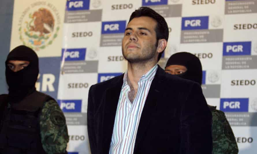 Suspected Mexican drug trafficker Vicente Zambada Niebla is presented to the media in Mexico City in March 2009.
