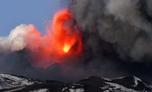 The eruption, including strong explosive activity from the south-east crater, was spectacular at times