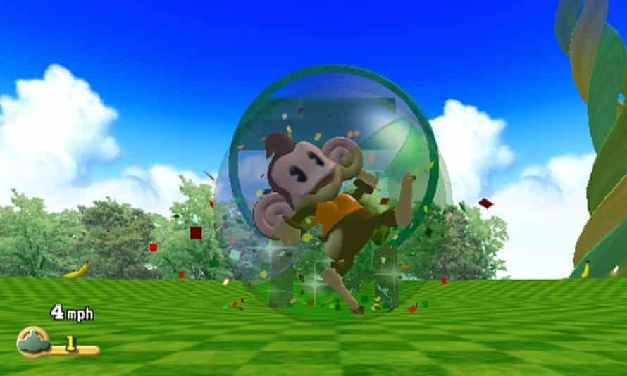 AiAi inside his Super Monkey Ball