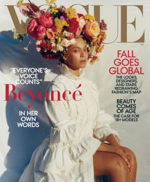 The Vogue September issue, which includes the piece Beyoncé in Her Own Words.