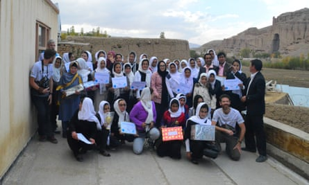 Proud runners from the Afghanistan marathon, October 2015
