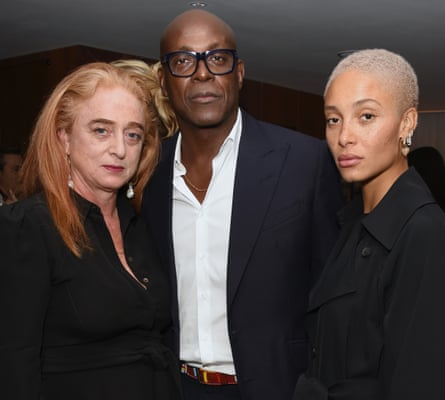 Adwoa Aboah with her parents, Camilla Lowther and Charles Aboah, at a WSJ magazine reception in London in September 17