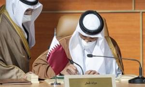 Sheikh Tamim bin Hamad al-Thani dari Qatar di KTT Dewan Kerjasama Teluk.