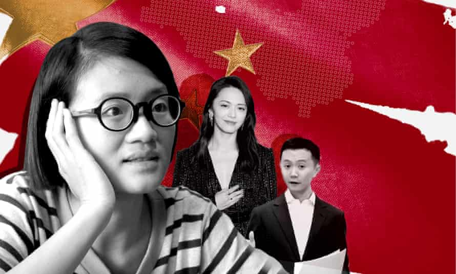 Targeted by the far right online: (from left) prominent feminist Xiao Meili, actor Yao Chen and journalist Fang Kecheng.