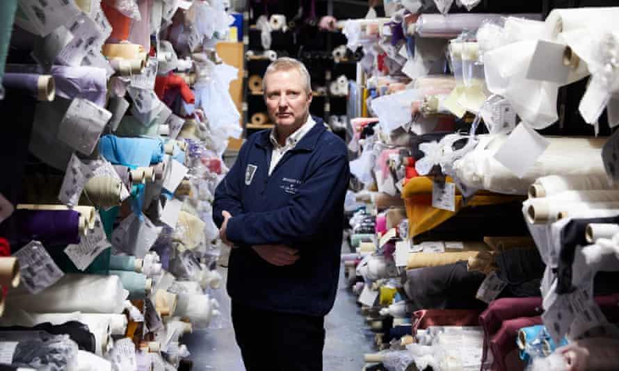 Mike Bennett at Bennett Silks Limited in Stockport.