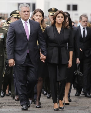 The president of Colombia Ivan Duque and first lady Maria Juliana Ruiz.