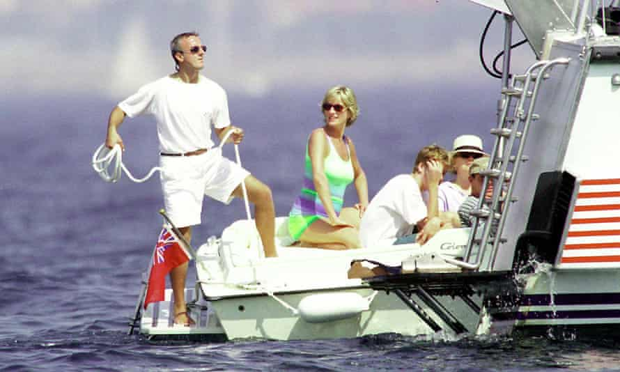 Diana, Princess Of Wales and Prince William in St Tropez in the summer of 1997