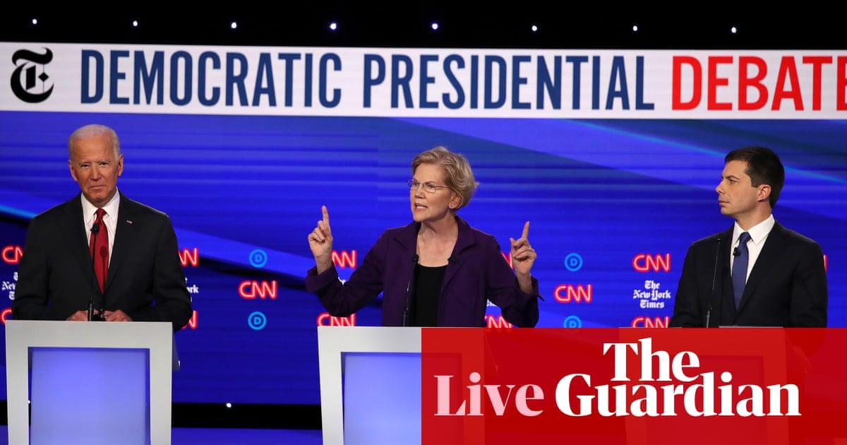 Democratic debate: candidates attack Trump over Syria withdrawal – live