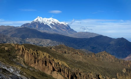 Illimani, at 6,438m, is the is the second highest peak in Bolivia.