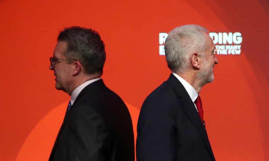 Jeremy Corbyn and deputy leader Tom Watson.