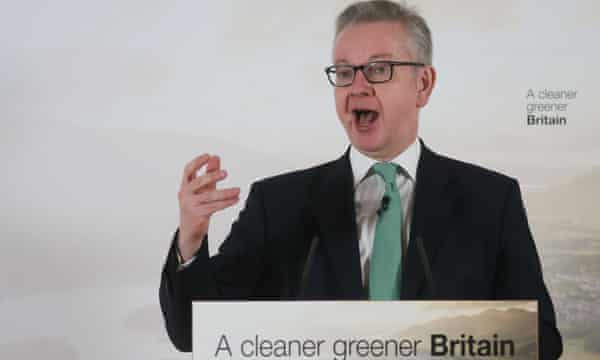 Michael Gove speaks at the launch of the green plan