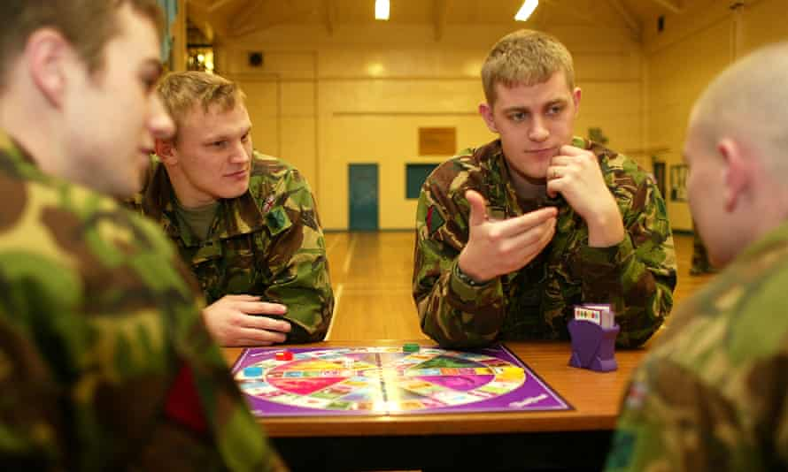 Military fire crews play Trivial Pursui