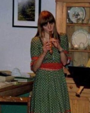 Lally MacBeth's mother wearing the dress circa 1994.