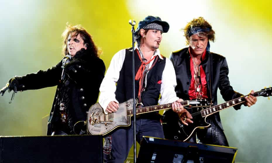 A monument to rock excess ... Hollywood Vampires perform at Rock in Rio, 2015.