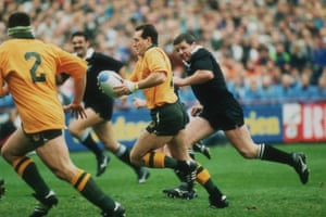 David Campese Breaks For Australia During The 1991 Rugby World Cup Semi Final