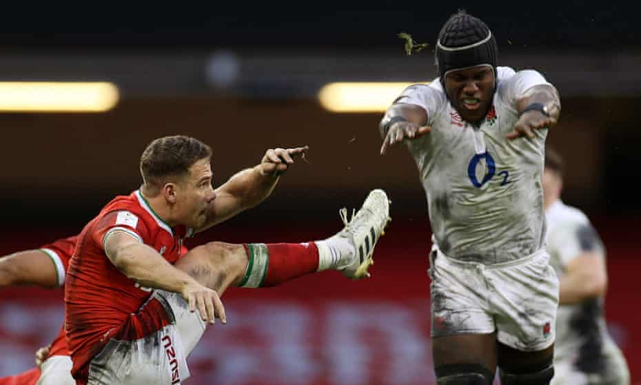 Maro Itoje in action against Wales.