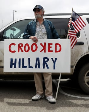 Clinton protester