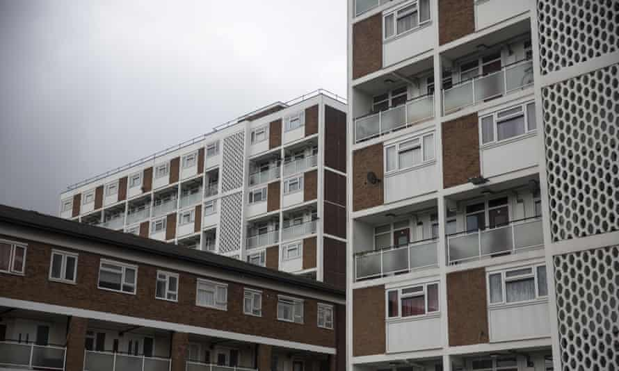 A residential tower block