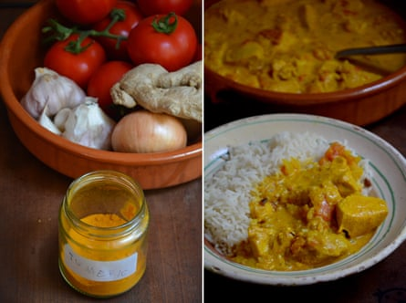 Rachel Roddy's chicken and tomato curry, or murgh masala.