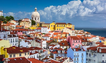 Lisbon skyline at Alfama, one of the city's older districts.