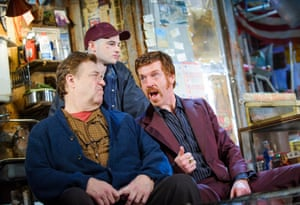 From left, John Goodman, Tom Sturridge and Damian Lewis in a 2015 production of American Buffalo.