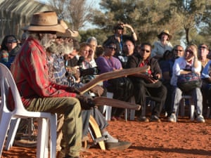 Mutitjulu elders at the national convention on constitutional recognition at Mutitjulu on the eastern side of Uluru, Australia