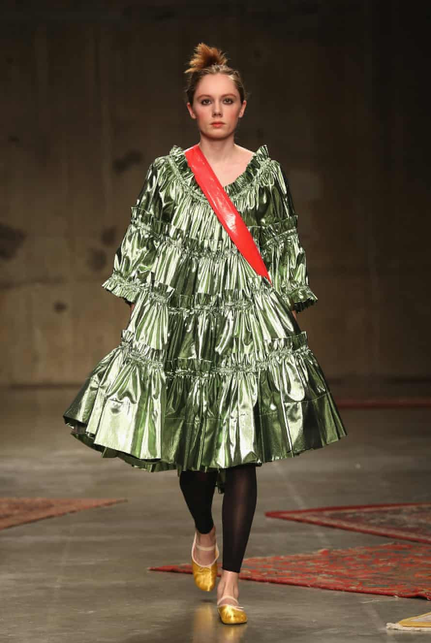 Volume was a theme of Molly Goddard's show at London fashion week.