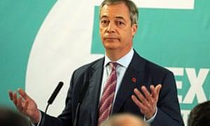 Nigel Farage speaking at the Best Western Grand Hotel in Hartlepool