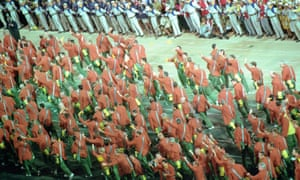 Australia's 2000 Olympic games team enter Homebush Stadium for the opening ceremony.