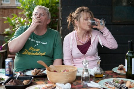 Lesley Manville with Peter Wight in Mike Leigh's film Another Year