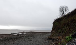 'Moor and sea, skylark's song / descending from the wind's demesnes' … Lavernock Point in south Wales.