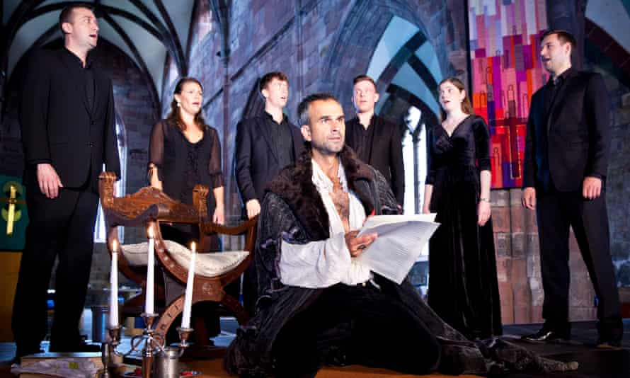 the Marian Consort with Gerald Kyd (centre) in Breaking the Rules at Lammermuir festival