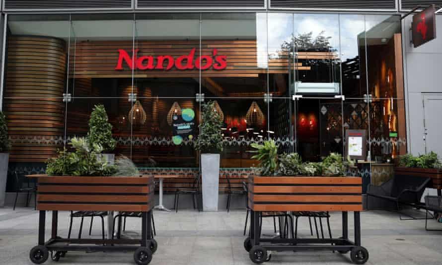 A Nando's restaurant in London