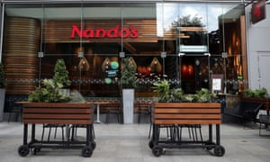 A Nando's restaurant in London in August.
