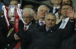 Jose Mourinho with the EFL trophy