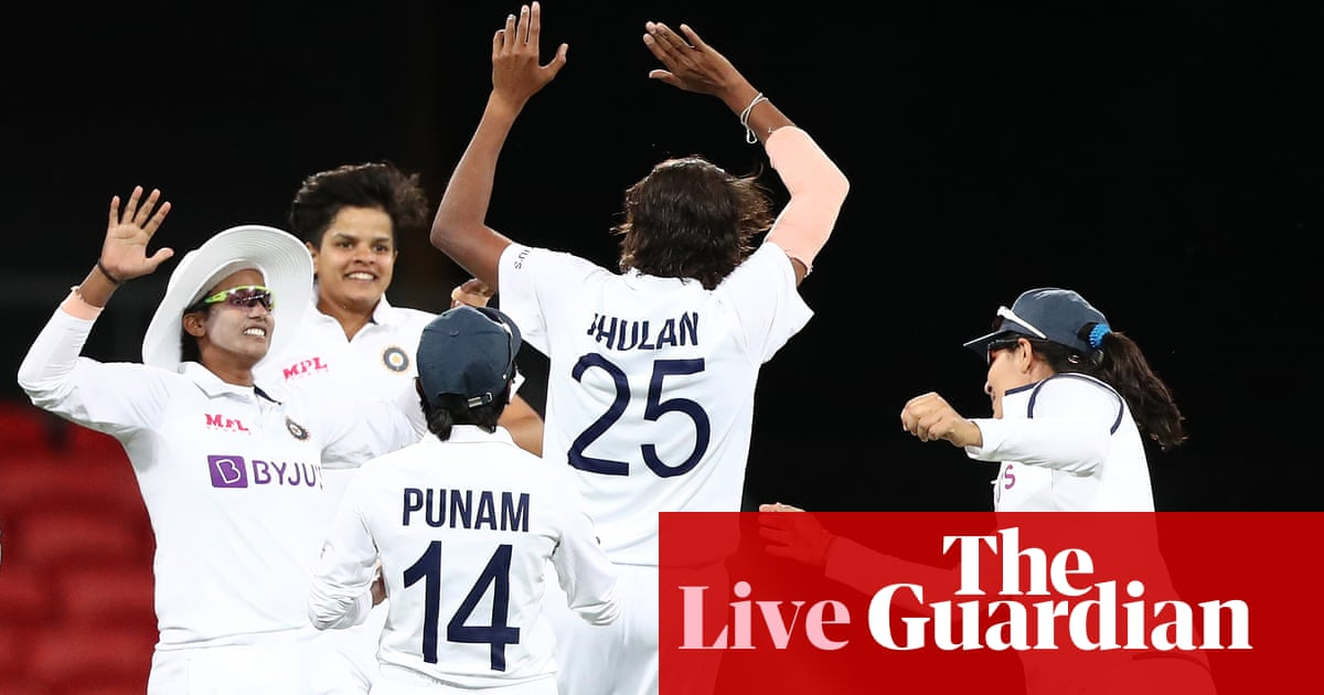 Australia v India: women's Test, day three – as it happened