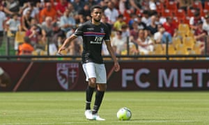 Crystal Palace's summer signing Jairo Riedewald gets on the ball during a preseason friendly against FC Metz.