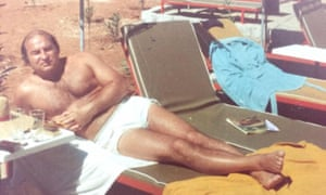 Foreman relaxing in Marbella, the 'Costa del Crime'.