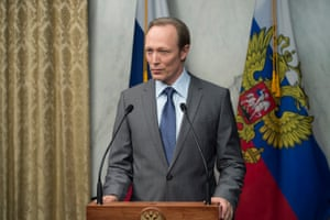 Note the initials … as Russian president Viktor Petrov in House of Cards.