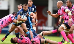 A French Top 14 match between Montpellier and Stade Francais in 2019