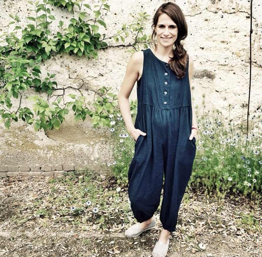 Edwina Elek in her Clary and Peg jumpsuit