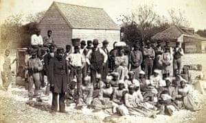Slaves in South Carolina, 1862. Abolitionist William Lloyd Garrison believed that slavery had 'imbruted' black Americans, leaving them in need of help from their white defenders
