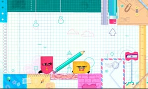 Snipperclips: use your Joy-Con to cut around the shapes.