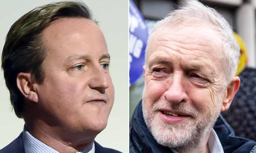 David Cameron, left, and Jeremy Corbyn