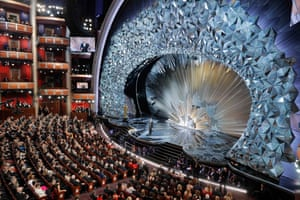 Los Angeles, US. Oscars host Jimmy Kimmel on stage at the 90th Academy Awards in Hollywood, California